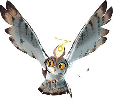 Card illustration for The Guardian's Owl